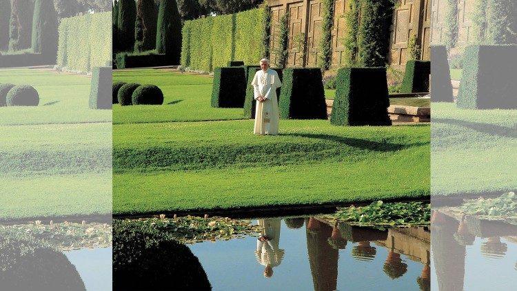 Foto: Bento XVI em Castel Gandolfo (foto de arquivo)