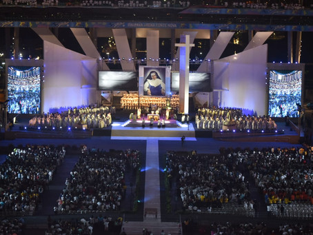 A Arena Fonte Nova em Salvador recebeu 49 mil admiradores de Santa Dulce dos Pobres