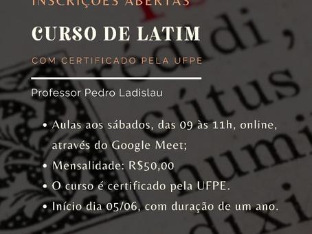 Abertas inscrições para Curso de Latim com certificação