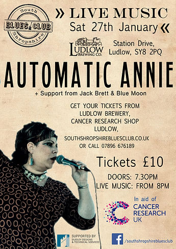 South Shropshire Blues Club Automatc Annie January 27th 2018