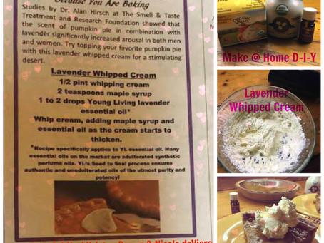 DIY Lavender Whipped Cream