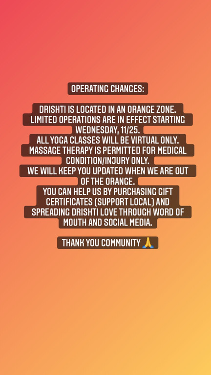 Operating Changes