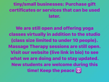 Support Small/Tiny Businesses