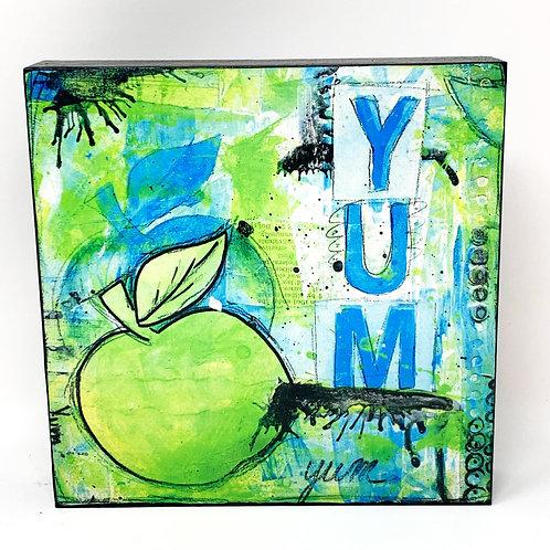 YUM Wood Block Art