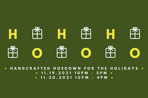 Hand Crafted Hoedown for the Holiday's Application Fee
