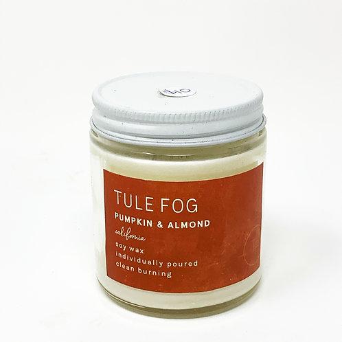 Pumpkin & Almond Tule Fog Soy Candle