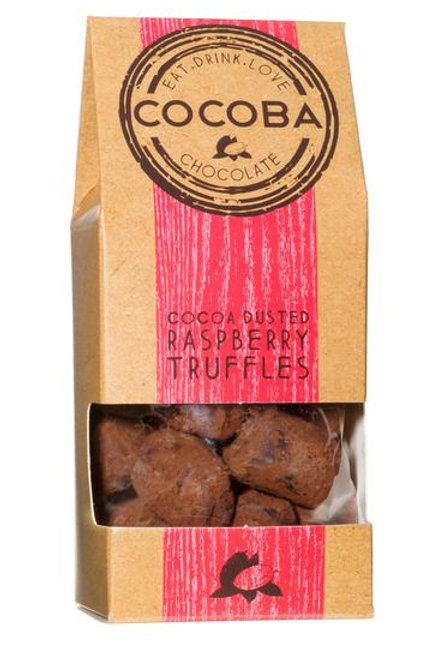 Cocoba - Cocoa Dusted Raspberry Truffles