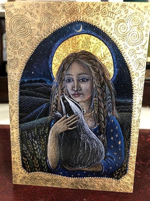 Corn Goddess Greetings card