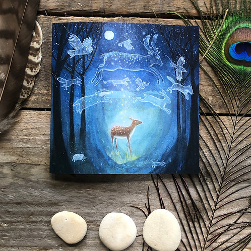 The Enchanted Forest greetings card