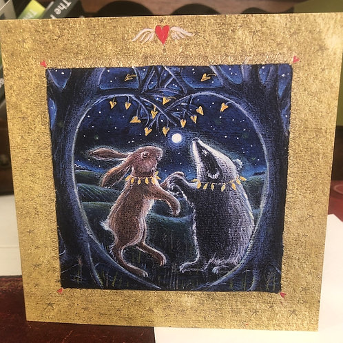 The Secret in Valentines Wood Greetings card