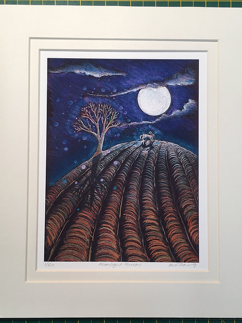 Moonlight Furrow, Giclee limited edition print of 50