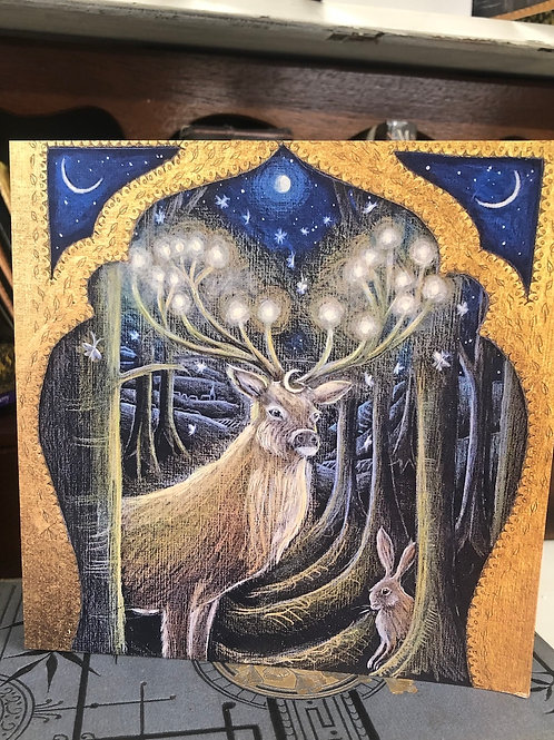 The Light of the Forest Greetings card