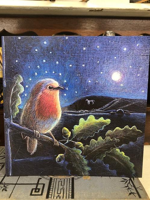 The Rising Moon Greetings card