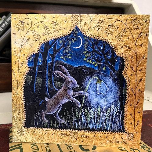 Harebell Lantern Greetings Card