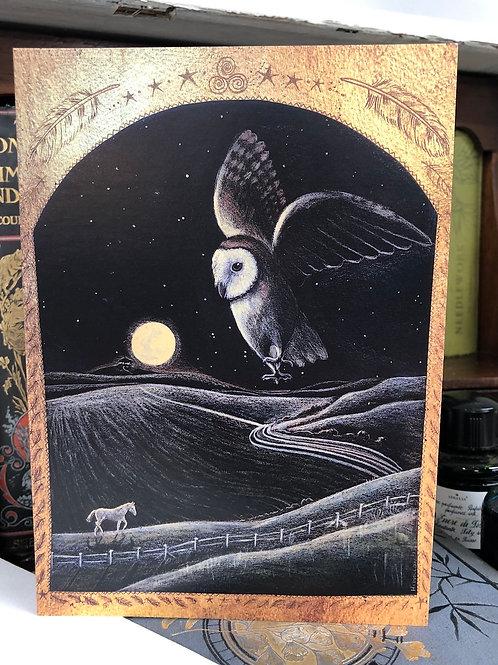 Homeward under the Lantern Moon Greetings card