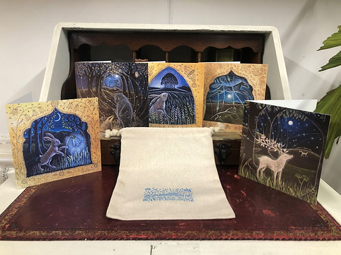 Moon and Stars card pack