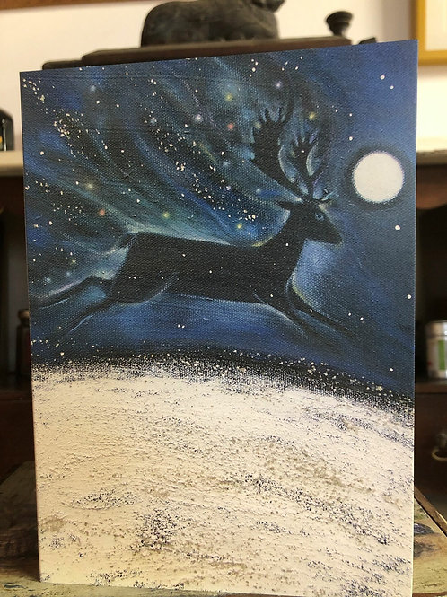 Midnight Solstice Greetings Card