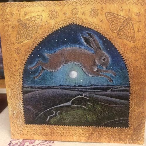 Uffington Hare Greetings card