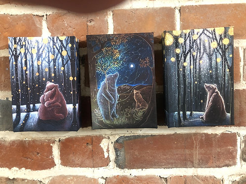 The Bears triptych, canvas boxed prints