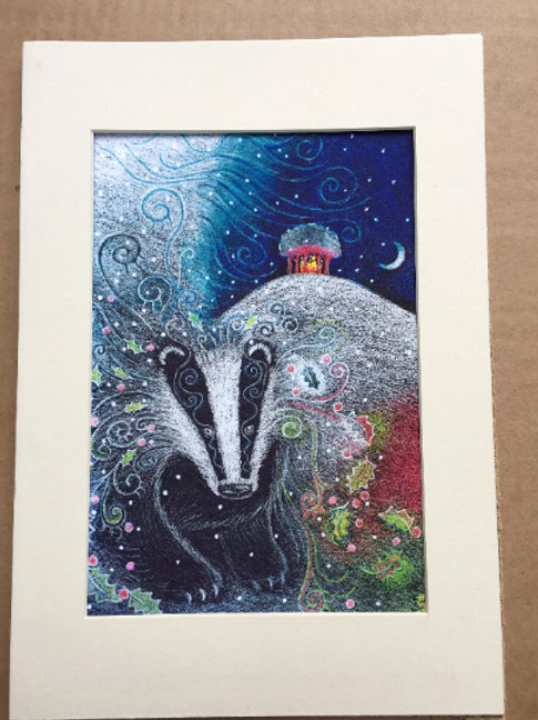 Yule Badger - Signed Limited Edition Print of 100