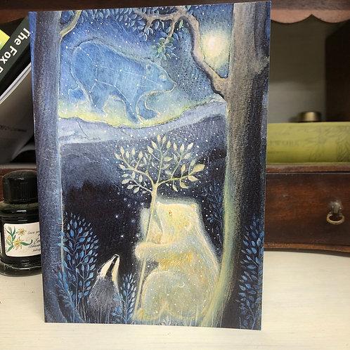 Moon Bear Greetings card