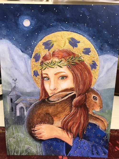 St. Melangell 2 Greetings card