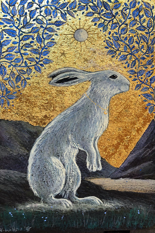 Creggan White Hare - Signed Limited Edition Print of 100