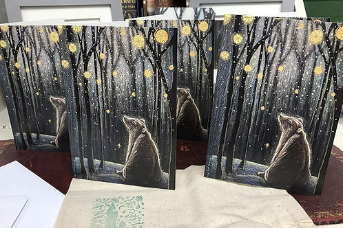 Foretelling the Snow Greetings Card Pack of 5