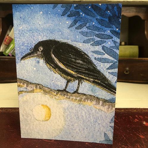 The Raggedy Crow Greetings card
