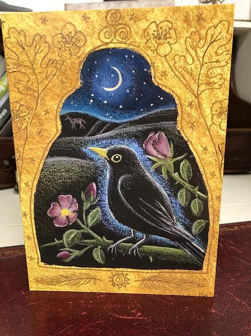 Wild Roses Greetings card