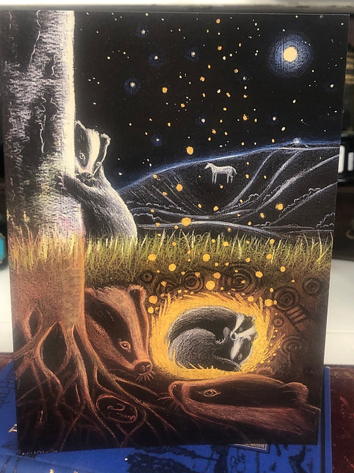 Upon the Next Full Moon Greetings card