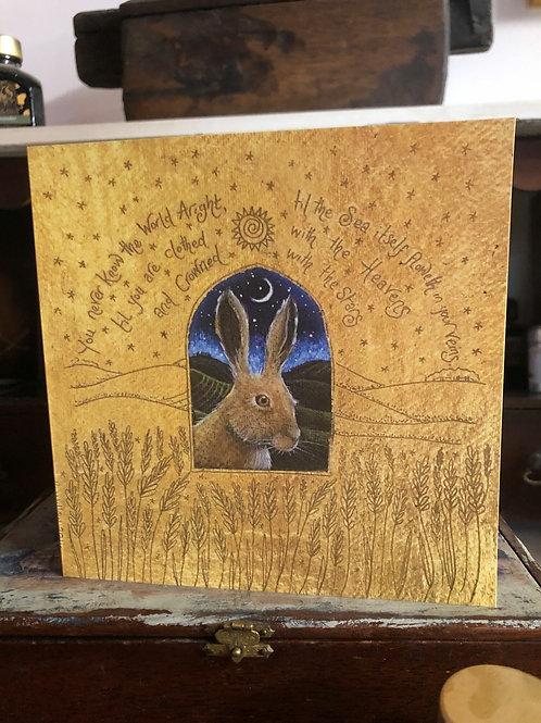 Window on the Wild Land Greetings Card
