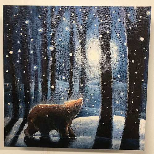 Going Home for the Winter canvas Giclee box print, perfect present for `Yule