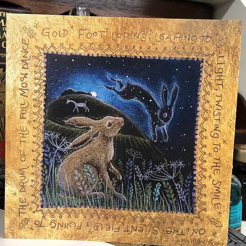 Full Moon Dance Greetings card