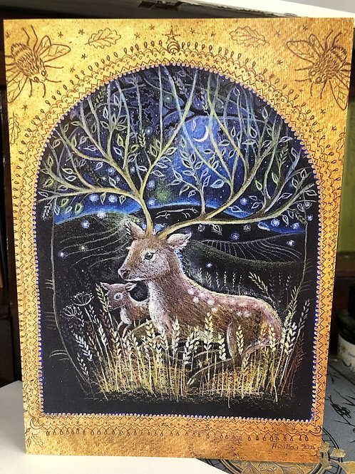 Midnight Dreaming Greetings card