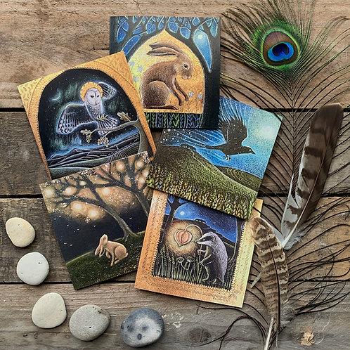 The Magic upon the Earth card pack of 5 greetings cards