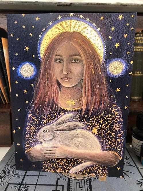St Melangell Greetings card