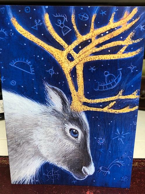 The Reindeer Shaman Greetings card