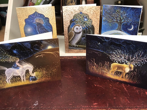 The Old Songs card pack of 5 greetings cards