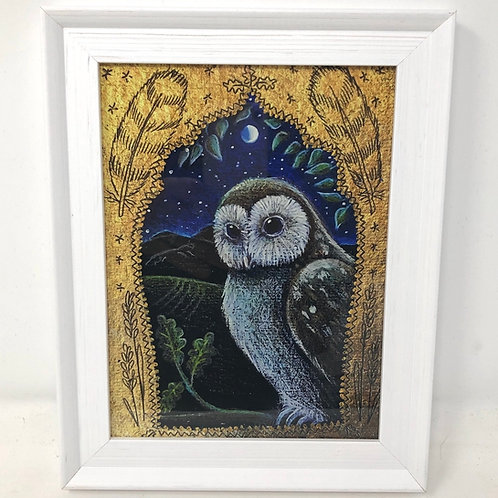 Framed picture of The Owl in the Oak