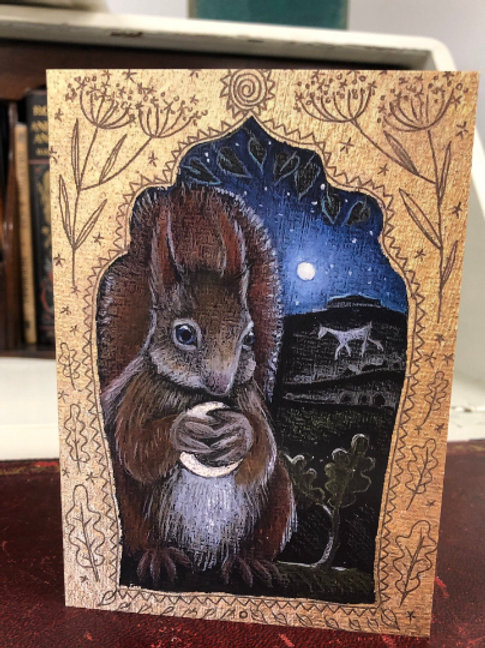 The Silver Moon Greetings card