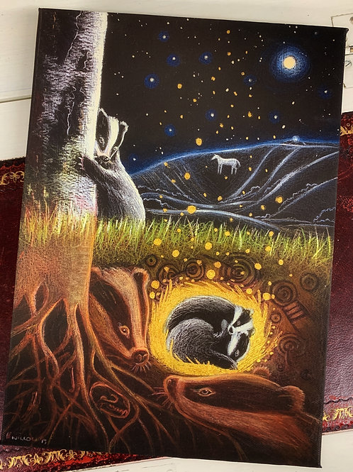 Upon the Next Full Moon, canvas box print, a song of hope for the Badgers