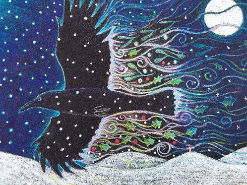 Yule Crow - Open Edition Print
