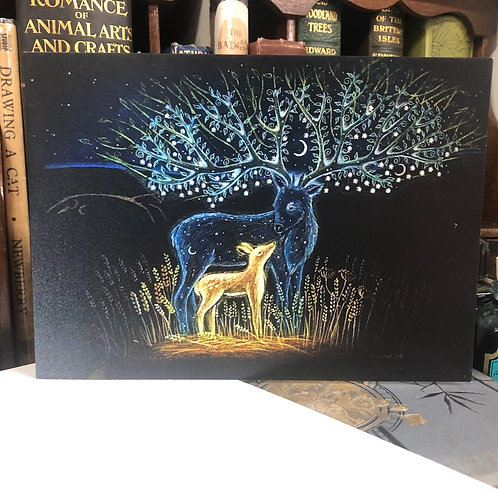 Ancestor Stag Greetings Card