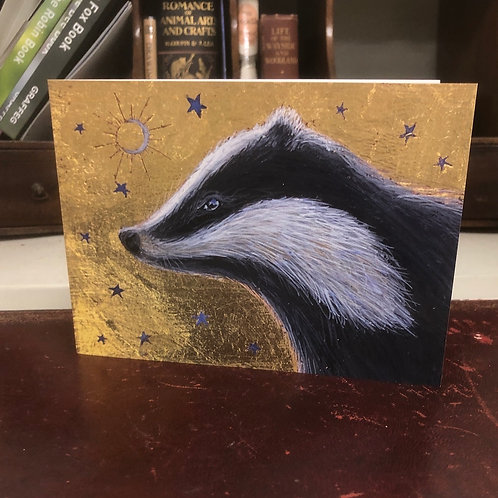 The Gilded Moon Greetings card