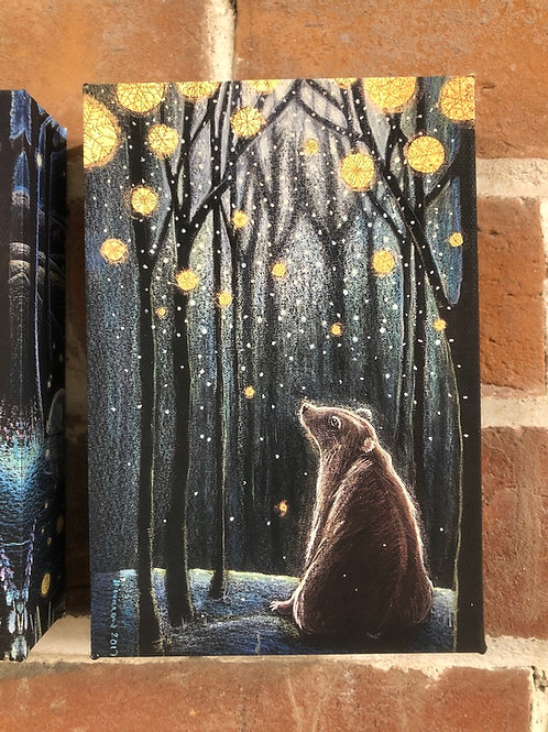 Small Foretelling the Snow canvas box print