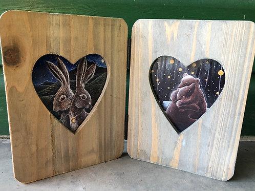 Driftwood framed prints for love