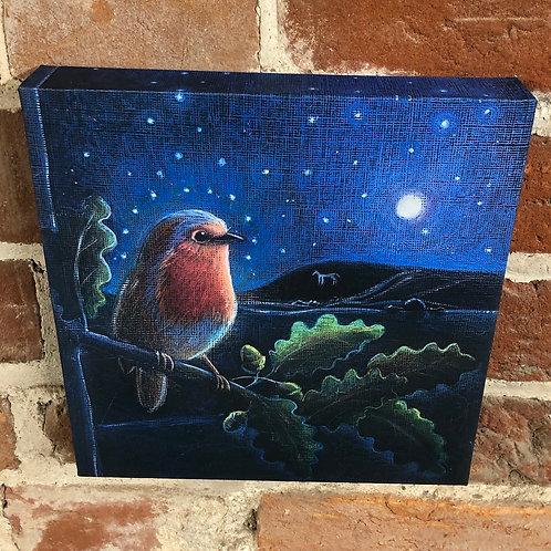 Rising Moon canvas box print