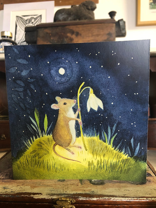 Wilfred Mouse Greetings Card
