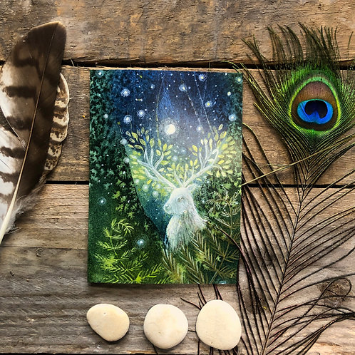 The Magic in the Woods greetings card